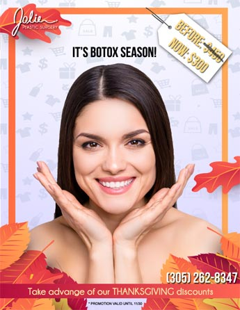 Botox treatment $300 Thanksgiving Special